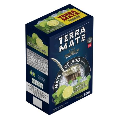 Terere Terra Mate - caixa 20x500 g - Menta e Limão - Sabor Premium