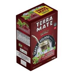 Terere Cereja e Menta Terra Mate - caixa 10x500 gr - Sabor Premium