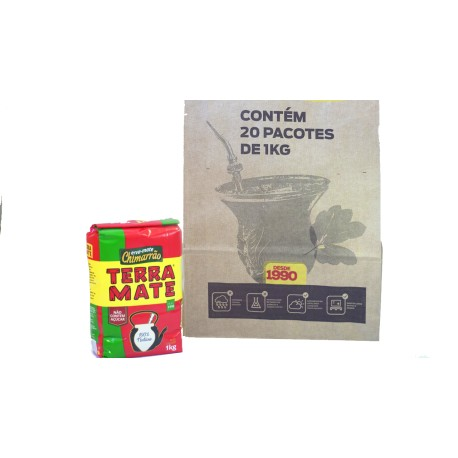 Erva Mate - Chimarrão Terra Mate - Fardo 20x1 kg