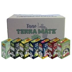 Terere Terra Mate - caixa 10x500 gr - Sortido Premium (2 Boldo e Menta, 2 Menta com Limão, 2 Abacaxi com