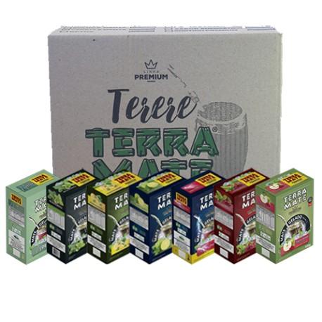 Terere Terra Mate - Caixa 20x500 g - Sortido Premium.
